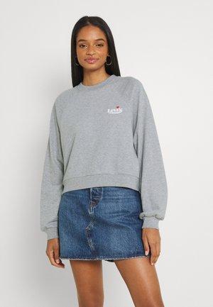 VINTAGE RAGLAN CREW - Sweater - heather grey
