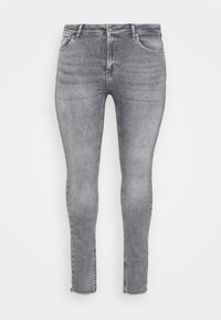 ONLY Carmakoma - CARWILLY LIFE RAW - Jeans Skinny Fit - grey denim - 3