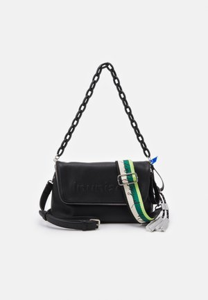 BOLS EMBOSSED HALF LOGO VENECIA - Across body bag - black