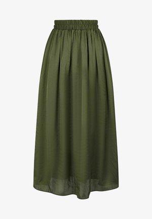 SATEENE  - A-line skirt - green