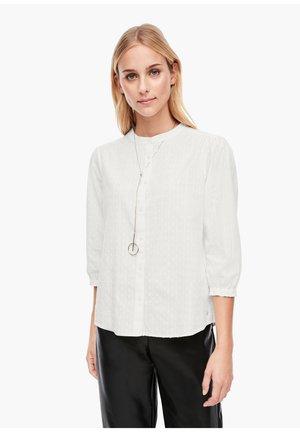 MIT PLUMETIS - Button-down blouse - offwhite