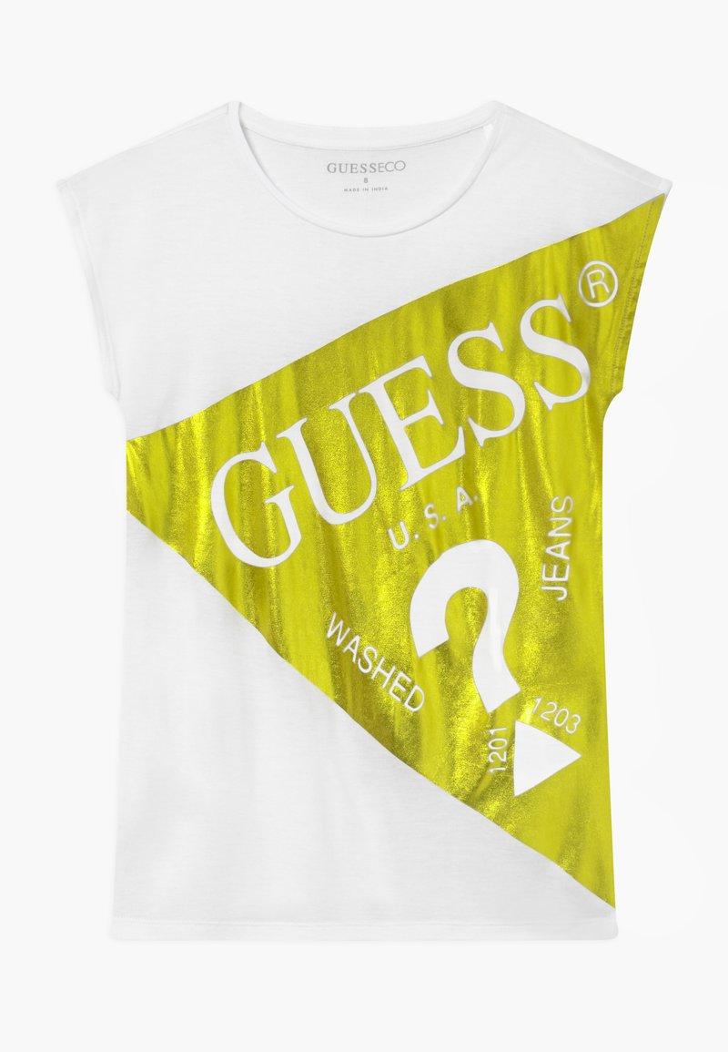 Guess - JUNIOR - T-shirt z nadrukiem - shiny light green