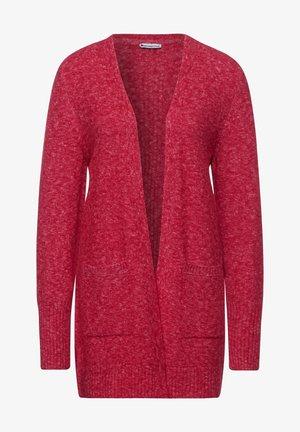 Cardigan - full red melange