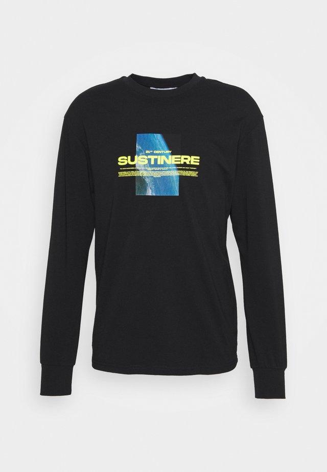 SUSTINERE LONG SLEEVE - Maglietta a manica lunga - black