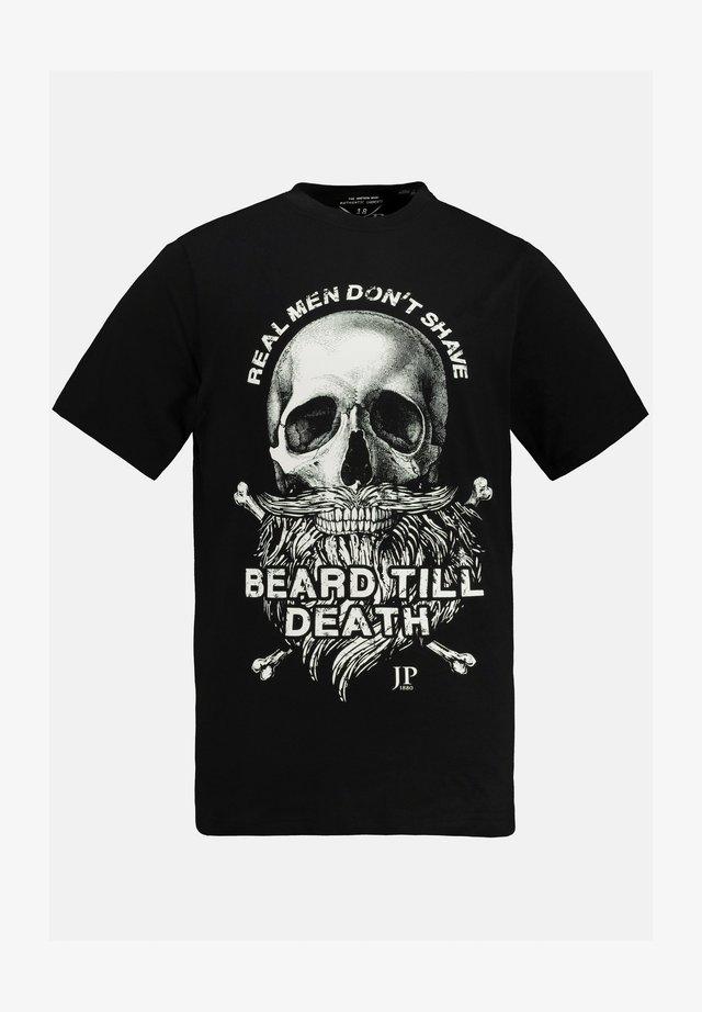 Print T-shirt - zwart