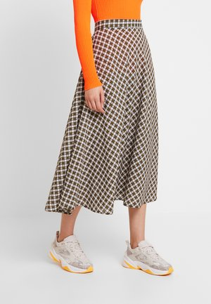 PEARL SKIRT - Maxinederdele - army