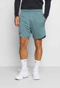 Under Armour - TRAINING SHORTS - Pantalón corto de deporte - lichen blue - 0