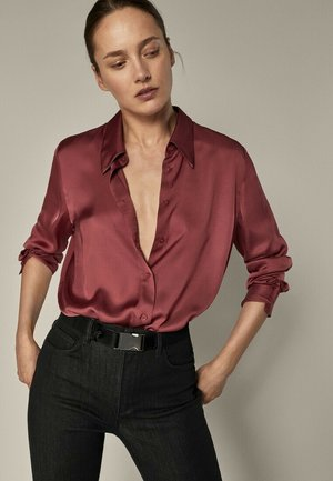 Button-down blouse - bordeaux