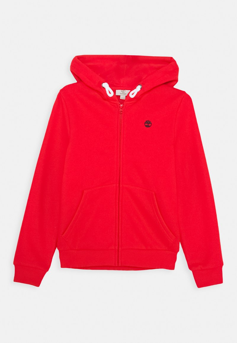 Timberland - HOODED  - Zip-up hoodie - bright red