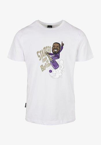 WL FROM THE BOTTOM - Camiseta estampada - white/mc