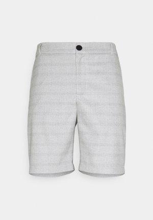 CHARLIE CHECK - Shorts - stone grey