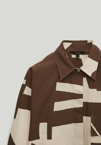 Massimo Dutti - Button-down blouse - brown - 2