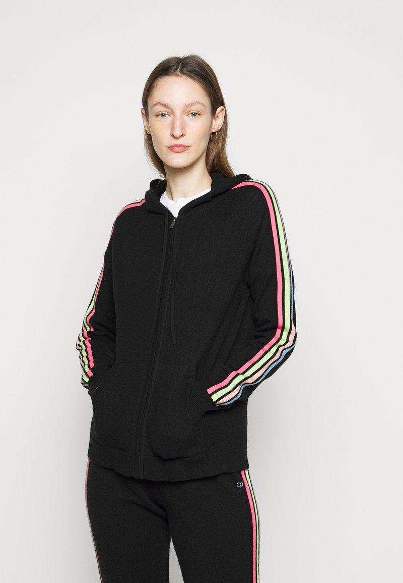 CHINTI & PARKER - STRIPE SLEEVE HOODIE - Sweater met rits - black