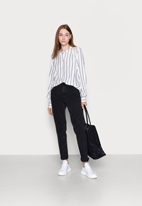 Gap Tall - SHIRRED - Blouse - black white - 1