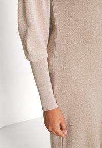 NU-IN - OPEN BACK MIDI DRESS - Jumper dress - beige - 4