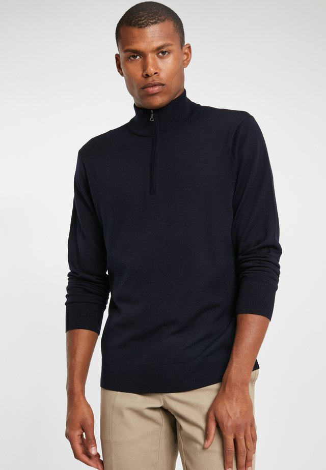 EASY CARE MERINO SWEATER HALF ZIP NAVY - Jumper - navy
