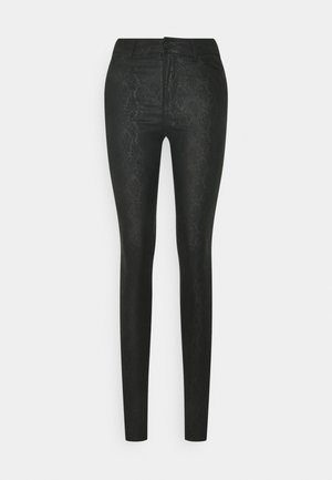 VMSEVEN SMOOTH ANIMAL - Trousers - black