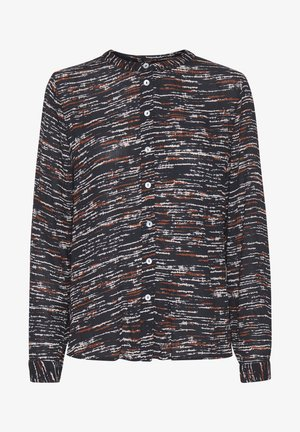 KADARIA - Button-down blouse - black irregular lines