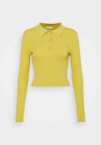 CARE SKINNY WITH COLLAR - Jumper - olive green