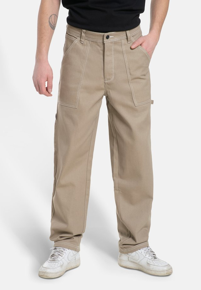 X-TRA WORK - Trousers - sand