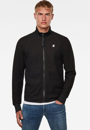 JIRGI ZIP TAPE DETAIL FUNNEL LONG SLEEVE - Chaqueta de punto - dk black/raven