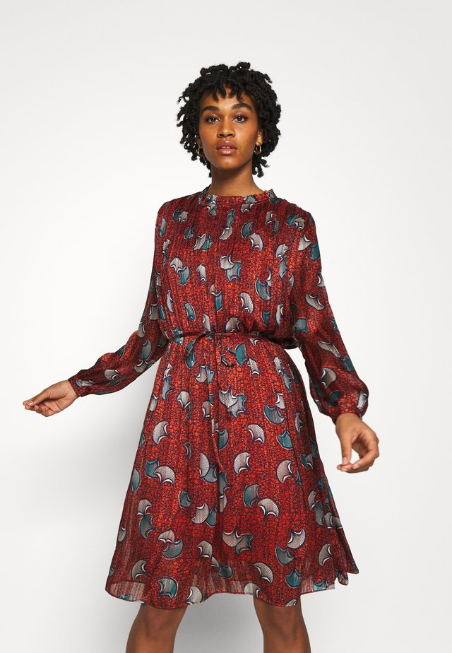 LADIES WOVEN DRESS PREMIUM - Denní šaty - batik rust