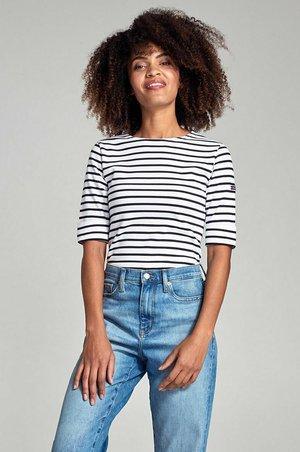 Print T-shirt - blanc/rich navy