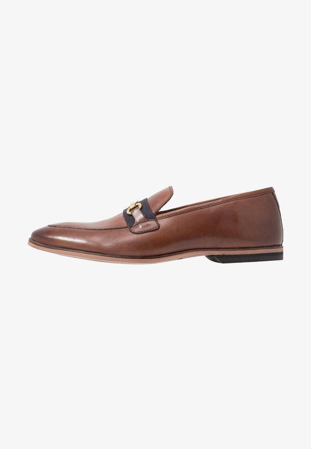 RAPHAEL  - Smart slip-ons - swiss brown/navy