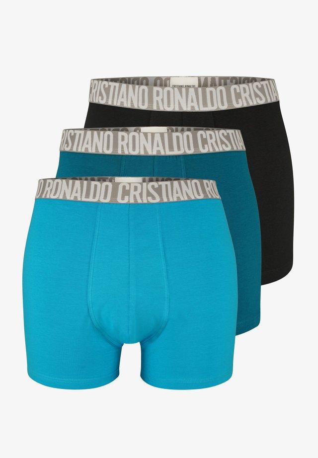 CRISTIANO RONALDO BASICRETROSHORTS  3-PACK - Pants - black/petrol/black
