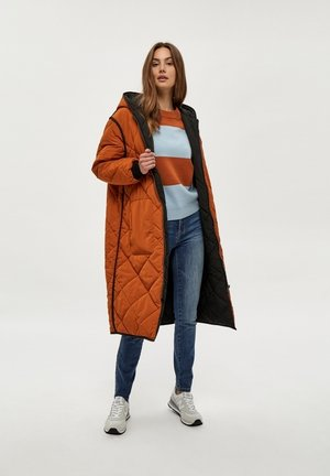 Winter coat - brown/black