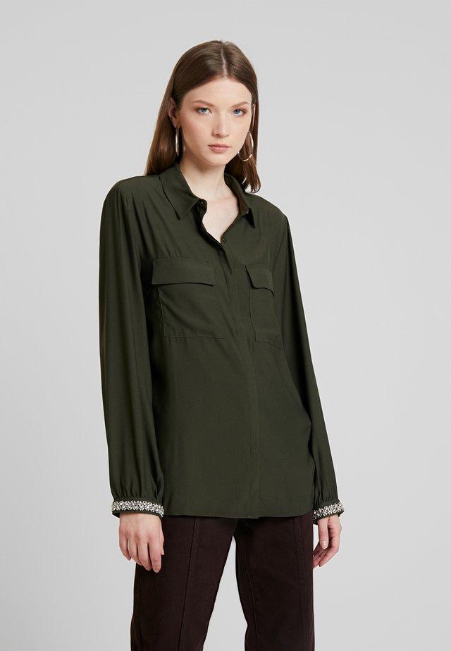 JOANA - Button-down blouse - avocado
