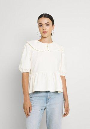 ONLLIVE LOVE COLLAR - Print T-shirt - cloud dancer