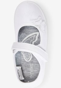 Next - Ankle strap ballet pumps - white - 1