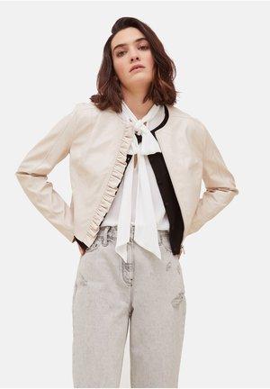Faux leather jacket - rosa