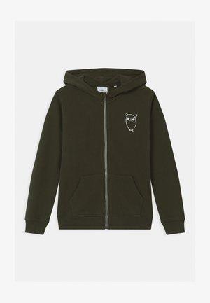 LOTUS OWL HOOD - Zip-up hoodie - olive