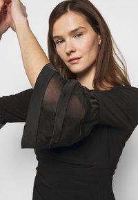 Lauren Ralph Lauren - MID WEIGHT DRESS - Jersey dress - black - 3
