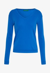 Benetton - V NECK SWEATER - Strikkegenser - blue - 3