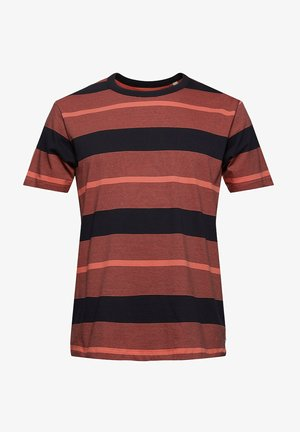 STRIPED  - T-shirts print - coral red