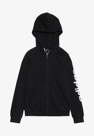 LIN UNISEX - Zip-up hoodie - black/white