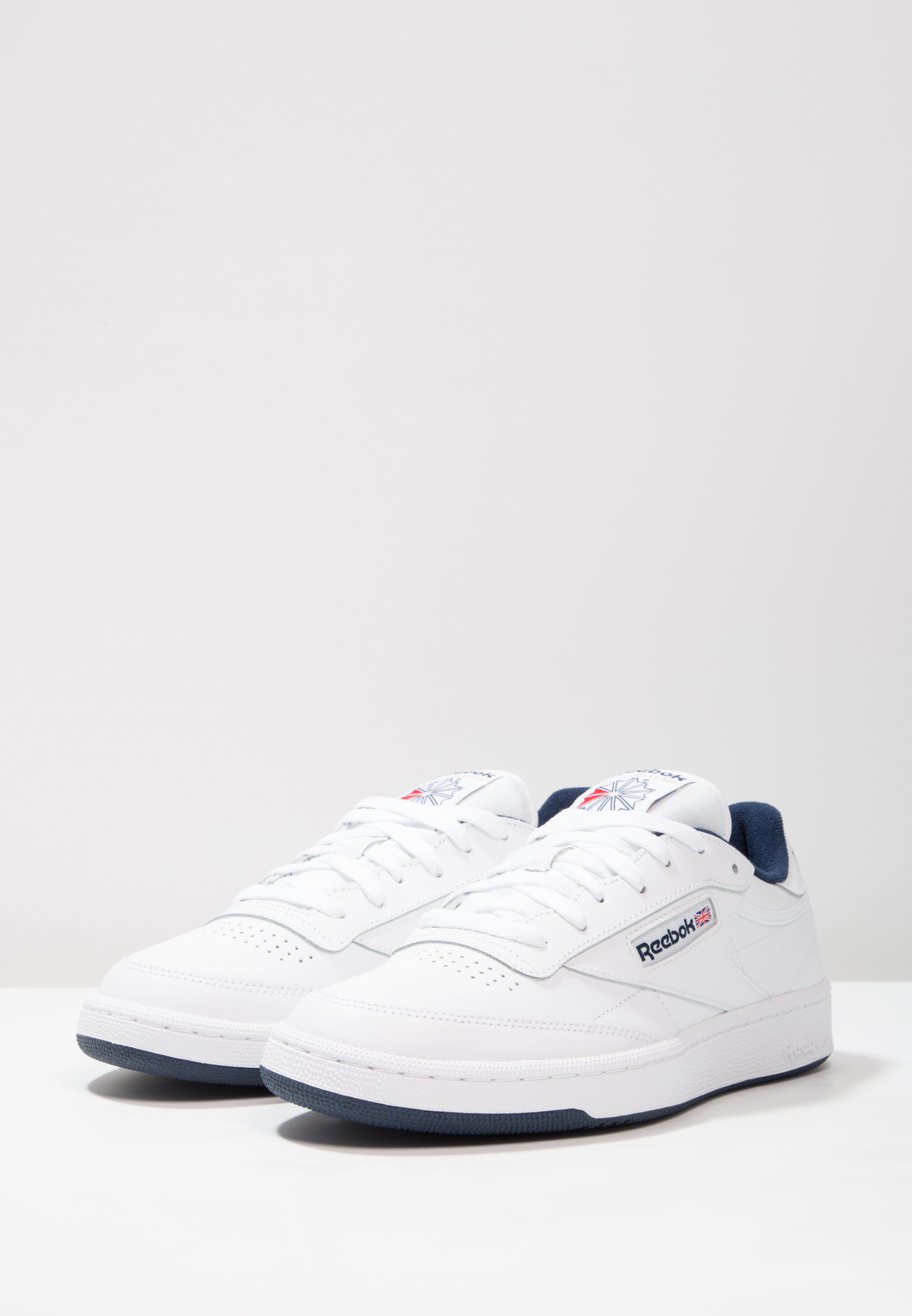 Gratis fragt Reebok Classic CLUB C 85 LEATHER UPPER SHOES  Sneakers  white/navy VHfsj