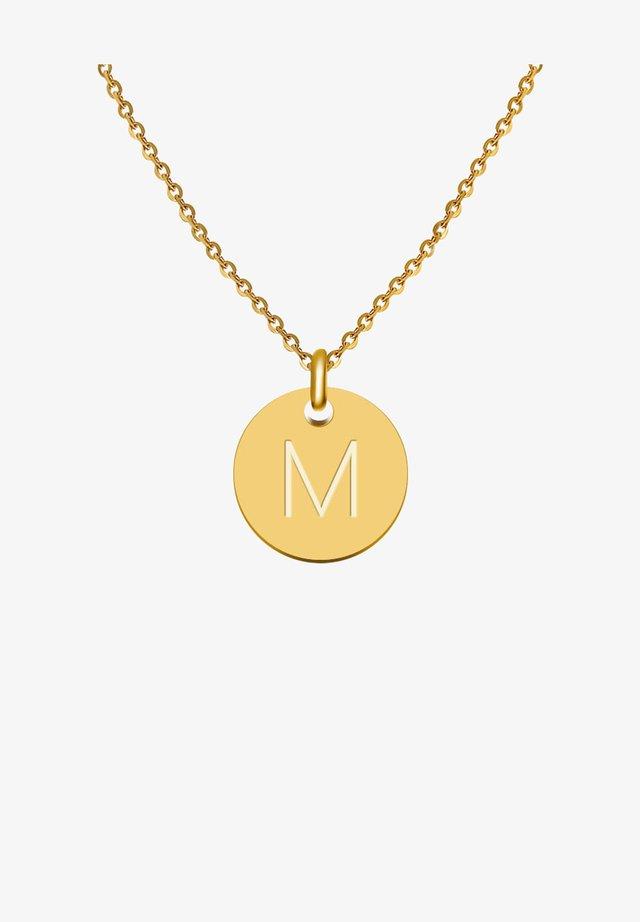 BUCHSTABE M - Collier - gold