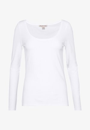 BASIC ROUND NECK LONG SLEEVES - Long sleeved top - white