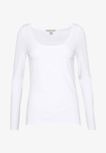 BASIC ROUND NECK LONG SLEEVES - Long sleeved top - white