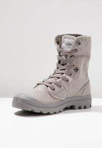 Palladium - VEGAN PALLABROUSSE BAGGY - Lace-up ankle boots - titanium/high rise - 5