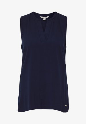 NECK DETAIL - Camicetta - real navy blue