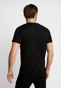 s.Oliver - KURZARM 2 PACK - Print T-shirt - black - 2