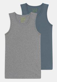 Sanetta - 2 PACK - Undershirt - elite grey melange - 0