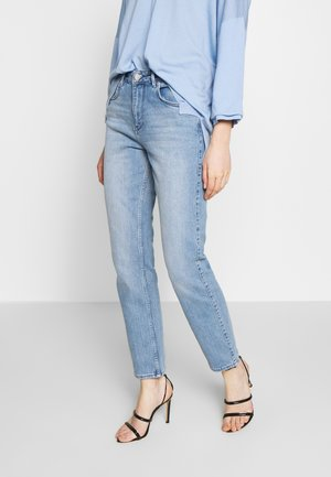 RIGGIS SLIT THINKTWICE - Straight leg jeans - light blue