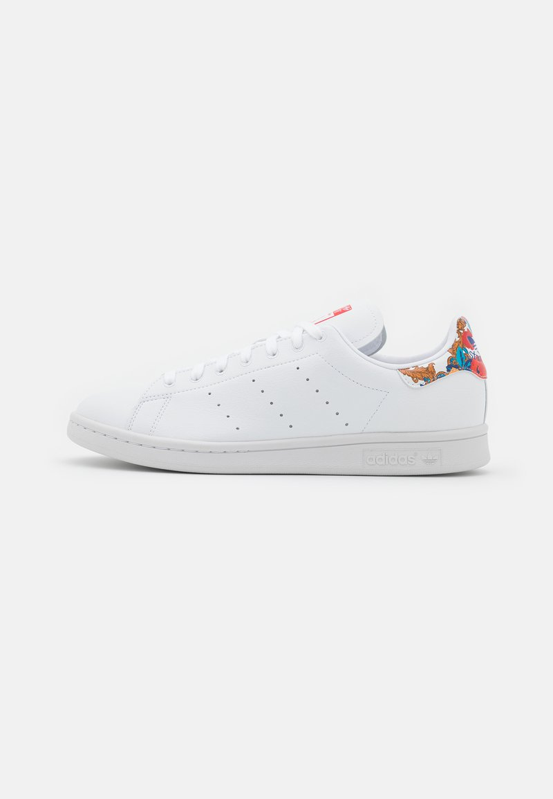 adidas Originals - VEGAN STAN SMITH - Trainers - footwearr white/collegiate royal/vivid red