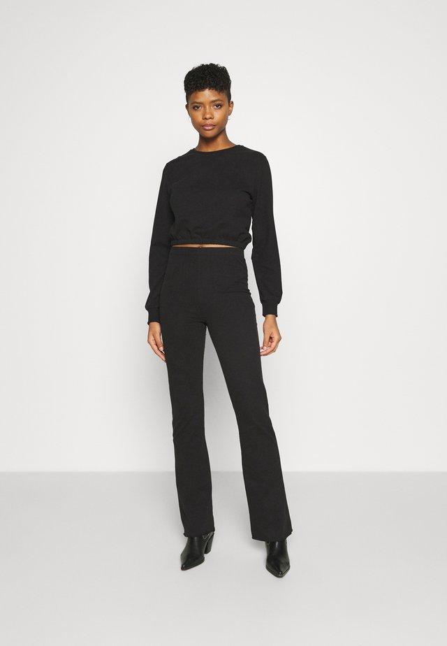 MY FLARE SET - Sweater - black